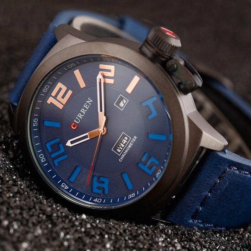 2017 CURREN New Watch Men Top Brand Fashion Casual Business Quartz Wristwatch Leather Men Watch Clock Waterproof Relogio xfcs цена 2017
