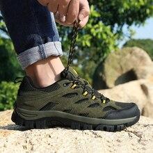 Уличная обувь для мужчин, износостойкие мужские походные кроссовки, большие размеры 39-46, Мужская альпинистская обувь, армейские зеленые летние Трекинговые ботинки