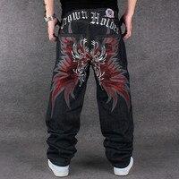 Jeans Famous Brand Mens 2017 Loose Hip Hop Jeans Men Printed Tide Men's Dress Casual Denim Trousers Cotton Pattern Harem Pants