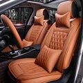 (Frente + Traseira) couro de alta qualidade universal almofada do assento do carro Do Carro-assento de carro Capas para Geely Emgrand EC7 EC8 EC9 X7 protetor