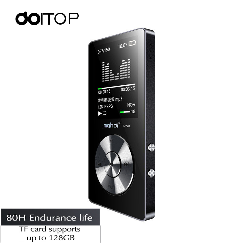 DOITOP HIFI Lossless Sound MP3 Player 8GB 1.8'' Sport Stereo Music Audio Walkman Long Standby MP3 Player Support FM Record TF A3