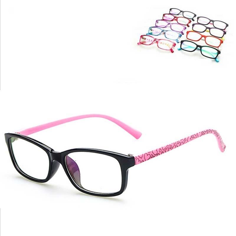 Moda lindo ojo Gafas Marcos 6 16 años Niño miopía óptica Gafas ...