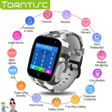 Torntisc LEC2 Smart Watch Kids GPS Location Emergency SOS Kids Watches Anti-lost Answer Call Camera Children's Watch For Boys(China)