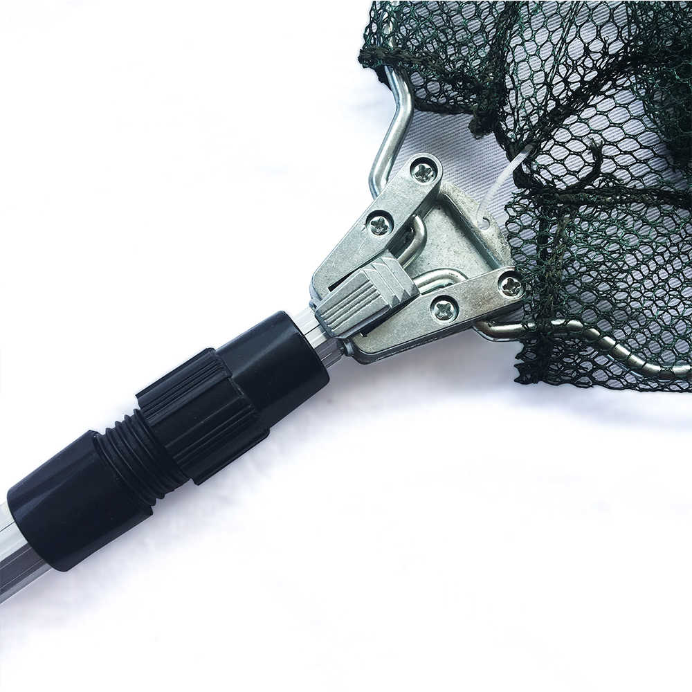 Aluminiumlegering 150/170/210Cm Intrekbare Visnet Telescopische Opvouwbare Landing Netto Pole Vouwen Schepnet Voor vliegvissen
