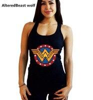 2018 Women Wonder Woman Print Tank Top Fashion Summer O Neck Fitness Vest Top Tank Women