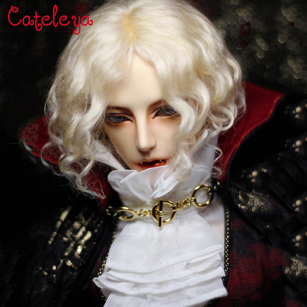Cateleya bjd 1/3 big female uncle temperament aristocratic split mohair wool rolls European style short curly hair wig-in Dolls Accessories from Toys & Hobbies    1