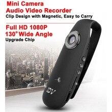 Wide Angle Full HD 1080 P Mini Câmera de Vídeo de Loop Recorder Motion Detection Câmera Corpo Clipe Ímã H.264 Filmadora Wearable Espia