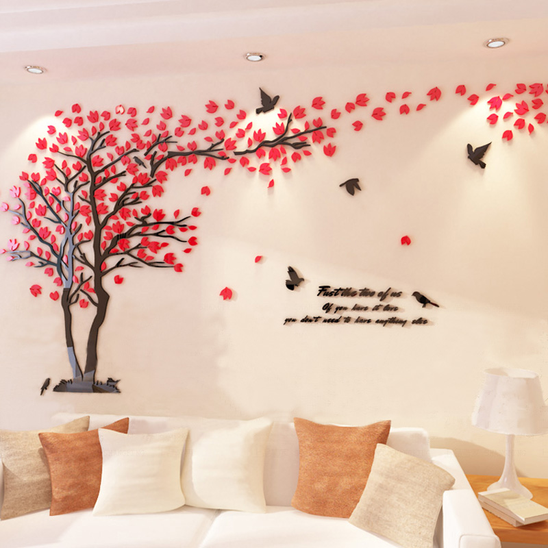 stickers mario picture more detailed picture about 1 sheet red lovers tree acrylic removable. Black Bedroom Furniture Sets. Home Design Ideas