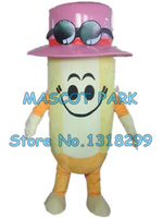 pencil mascot costume pink hat pencil custom adult size cartoon character cosply carnival costume 3242