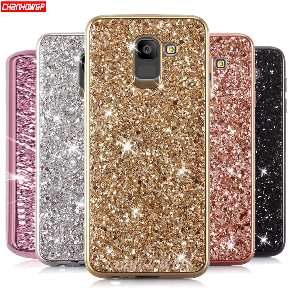 Bling Glitter Soft Silicon Case For Samsung Galaxy J4 J6 A6 A8 S8 S9 Plus S6 S7 Edge J8 A7 A9 2018 J7 Neo J5 J3 A5 2017 Cover