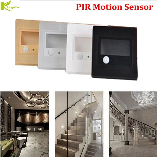 Kingoffer PIR Motion Detector Sensor Led Stair Light Led Infrared Human  Body Induction LightS Recessed Steps