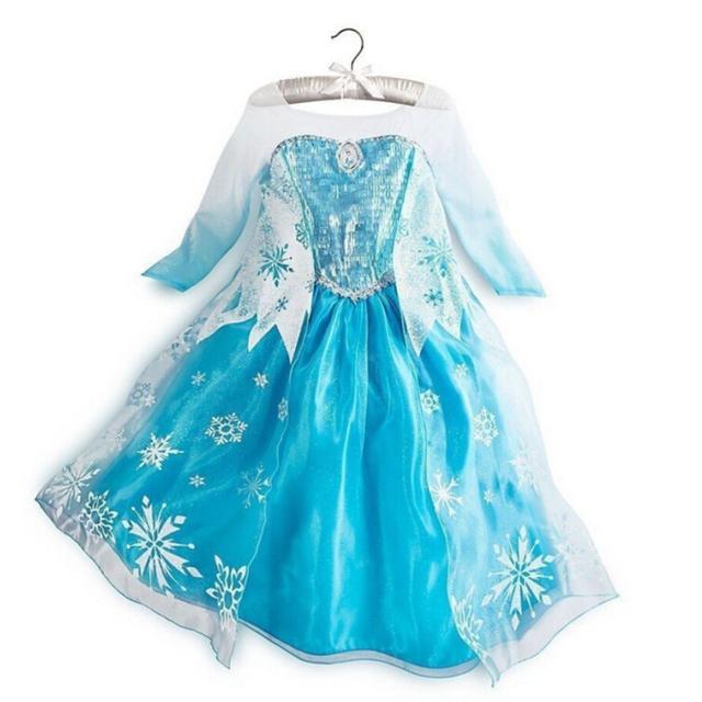 Fever Baby Girl Elsa Winter Clothes Christmas Dresses Party Princess Anna Vestidos De Menina Costume Fantasia Kids Clothing
