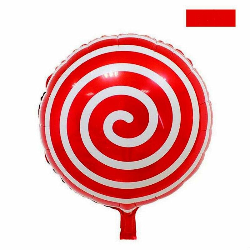 2pcs Round Lollipop Foil Balloons Happy Birthday Balloons Wedding Decorations Su