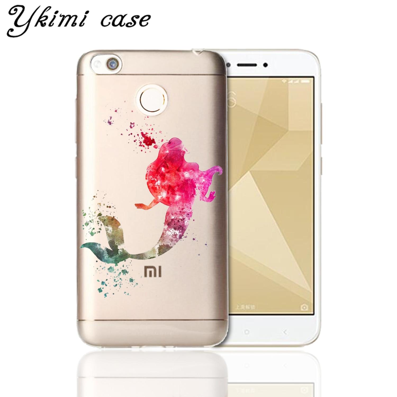 Ykimi case Cartoon minnie Mickey Cover For Xiaomi Redmi 5 plus 5a 6 pro 6a 4x 4a note 4 4x 5 pro 5a 6 case soft Silicone TPU