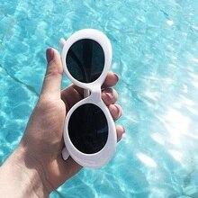Gafas 2019, gafas de Kurt Cobain, gafas de sol ovaladas para mujer, modernas gafas de sol retro Vintage 2018, gafas de sol blancas y negras para mujer, gafas UV