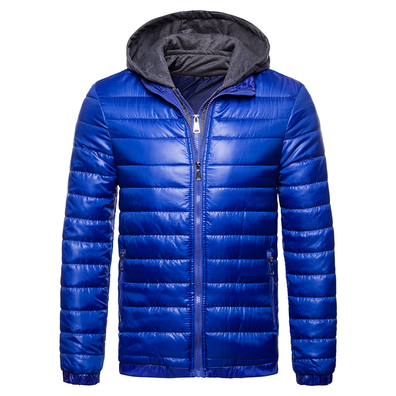 Brand Men's Hooded Jackets and Coats Fake two pieces Designer Jackets