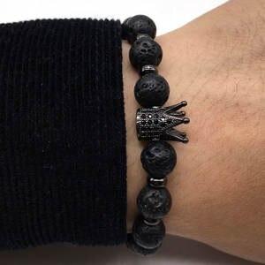 URORU 2018 Charm Black Bracelet for Men Women Jewelry gift 3995d339d7
