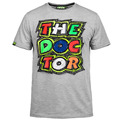 2016 T-shirt Rossi Motor GP VR46 Thedoctor  locomotive motorcycle  Cartoon cotton short-sleeved T-shirt  Gray