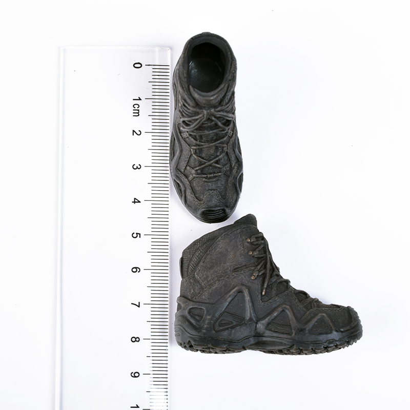 """1//6 Scale Military Black Hollow Combat Boots Shoes For 12/"""" Male Body Doll"""