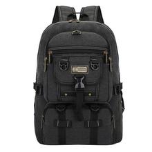 OZUKO 2018 New Canvas Men Backpacks for Men travel bag Big large capacity zipper solid male backpack for Teenagers Rucksack