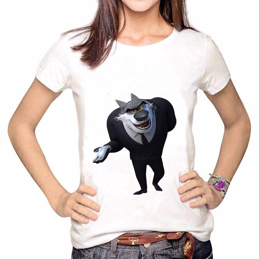 2018 New Fashion Summer Rock Dog Linux Khampa Print Women T Shirt Short Sleeve O-Neck Female Loose Tee Shirt Tops