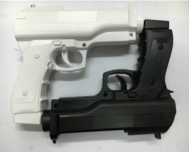 2 x pistola de luz para disparar, videojuegos deportivos, una mano, controlador de arma para juegos de controlador de accesorios remotos Nintend Wii