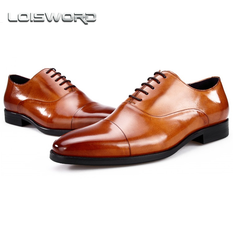 LOISWORD Fashion black / brown formal shoes mens dress shoes genuine leather oxfords business shoes mens wedding shoes dxkzmcm men oxfords shoes black brown mens dress shoes genuine leather business shoes formal wedding shoes