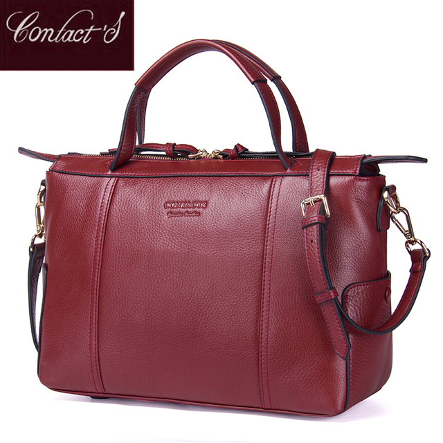 Contact S Women Practical Bag Handbag Brand Designer Office Organized Genuine Leather Functional