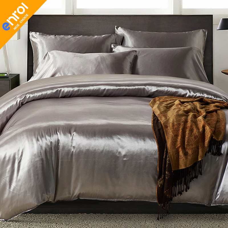 Aliexpress.com : Buy Satin Silk Quilt Cover Double Europe