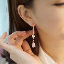 цена на Women Fashion Jewelry Women Flower Faux Pearl Long Tassel earrings Dangle Eardrop Concise Earrings Femme