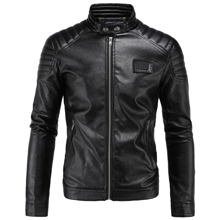 New Trend Motorcycle Leather Jacket Embroidery Men Leather Jackets And Coats Fashion Slim PU Outwear Black Biker Jacket Male 5XL