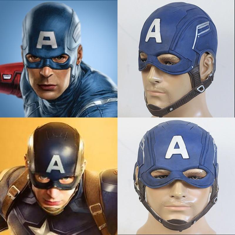 Captain America Civil War Steven Rogers Helmet PVC Halloween Cosplay Props