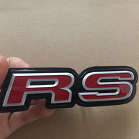 Car Styling RS Logo Front Grille Emblem SI Grill Badge For Honda Civic Accord Fit CRV