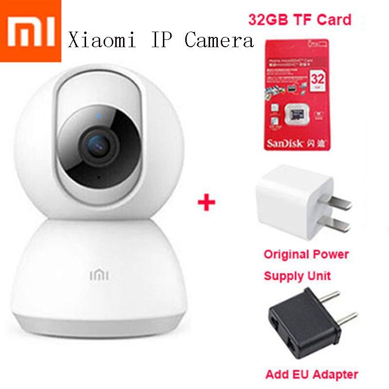 Original Xiaomi Mijia caméra intelligente 1080 P Vision nocturne caméra vidéo intelligente 360 Angle bébé moniteur caméra vocale Xiaomi caméra