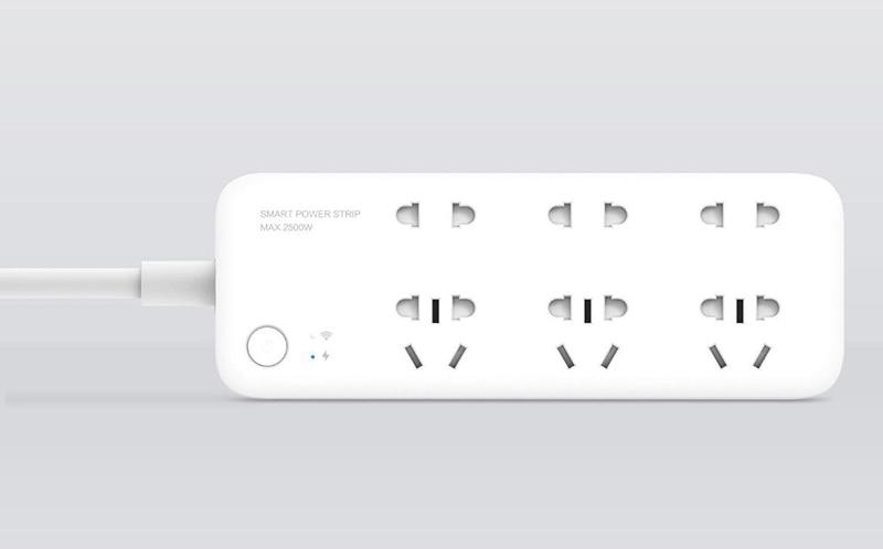 Original Xiaomi Mijia Smart Power Strip Intelligent 6 Ports Plug Socket WiFi Wireless Remote Power onoff with phone 2500W H25 # (6)