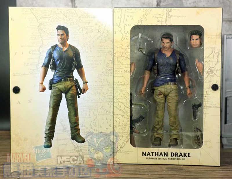 NECA 4 final de UM ladrão Nathan Drake Uncharted Ultimate Edition PVC Action Figure Collectible Para Crianças Presentes Brinquedos Brinquedos