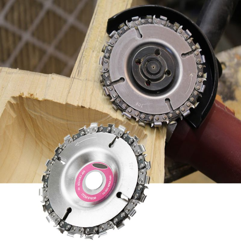 4 Inch Grinder Disc And Chain 22 Tooth Fine Abrasive Cut Chain For 100/115 Angle Grinder New Drop Ship