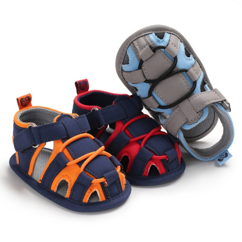 Summer Baby Boys Shoes Leather Funny Pu Soled Anti-Slip Casual Beach Toddler Sandals Soft Garden