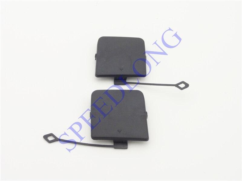 2 Pcs/paire RH et LH arrière pare-chocs remorque crochet de remorquage cap yeux couverture pour BMW X1 Série E84 2010-2012