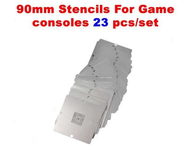 23 Pcs BGA Reballing 90x90mm Game Console Stencils For PS3 Xbox 360 Wii