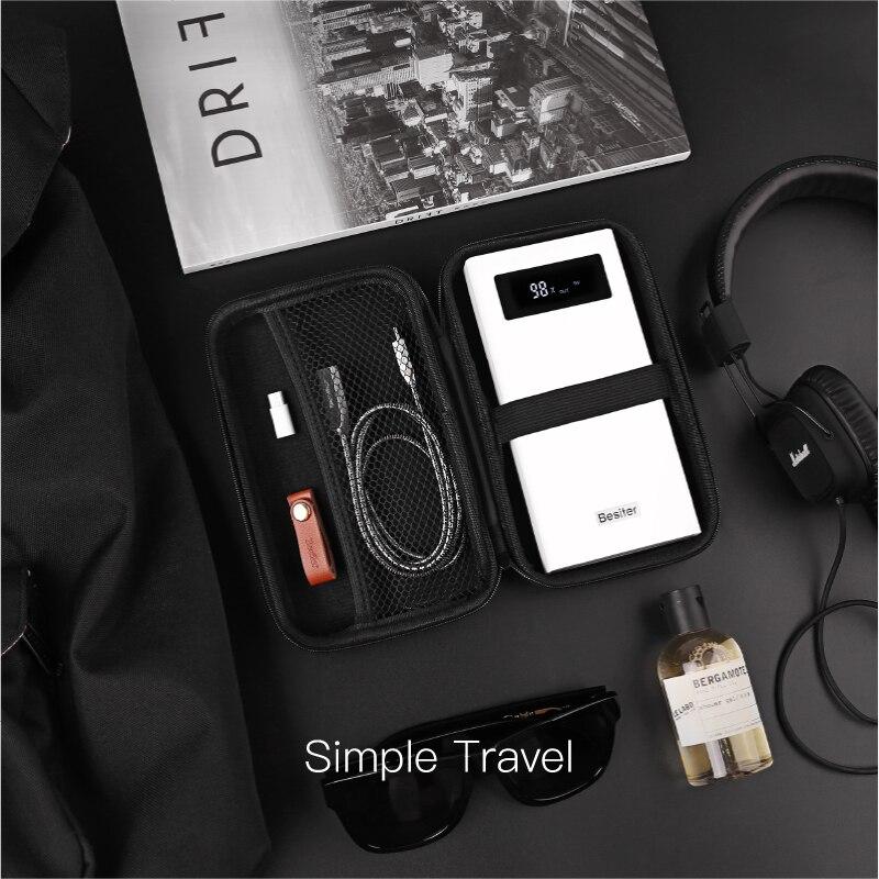 Besiter Puissance Banque 20000 mAh Pour Xiaomi Mi 2 Rapide Charge 3.0 Externe Batterie Pack avec Type-C Câble Boîte De Rangement Poverbank