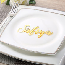 Custom Wedding Place Cards Personalized Names Place name settings Guest name tags party decoration Wedding Signs Calligraphy(China)