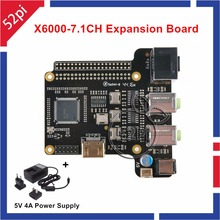 Sale X6000-7.1CH Expansion Board for Raspberry Pi 1 Model B+/ 2 Model B / 3 Model B And 5V 4A Power Supply
