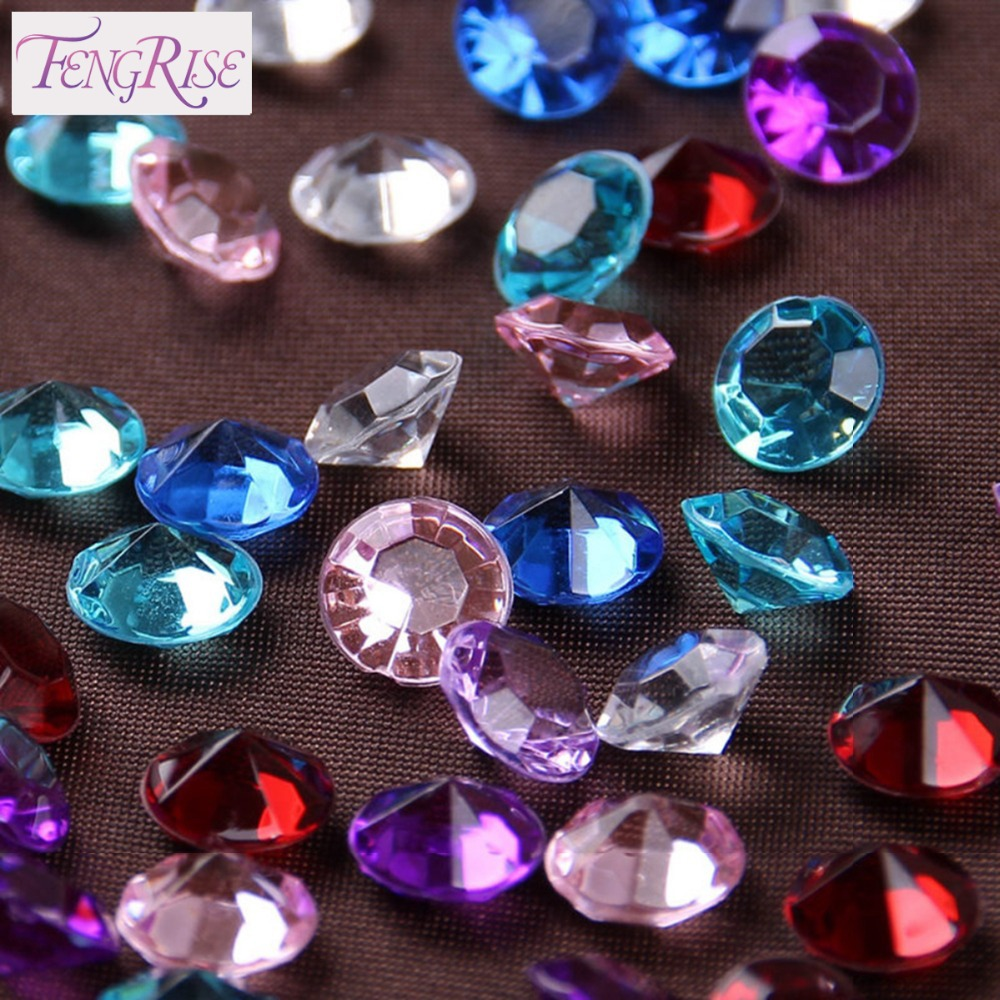 Fengrise wedding decoration 8 mm 500pcs diamond confetti centerpiece fengrise wedding decoration 8 mm 500pcs diamond confetti centerpiece rhinestone favors crystal party accessories table crafts in party diy decorations from junglespirit Image collections