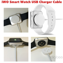 New iWO Smart Watch Charger Cable USB Data Charging Cable for MTK2502C iWO 1:1 Smart Watch (Notice: Can Not Use for Apple Watch)
