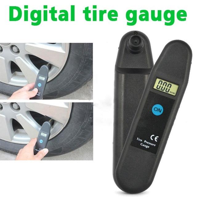 Digital LCD Display Accuracy Wheel Tire Air Pressure Gauge Tyre Tester Vehicle Motorcycle Car 5-150 PSI/KPA/BAR/KG/CM2 Detector