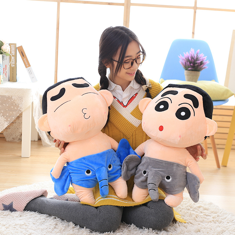 Candice guo! super cute plush toy Crayon Shin chan funny elephant pants stuffed doll children boy Christmas birthday gift 1pc