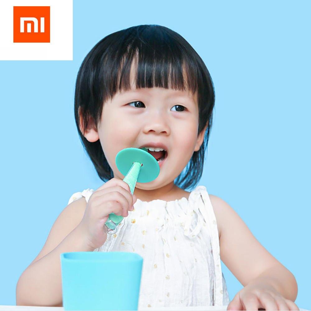 2pcs/set Original Xiaomi Kola Mama Baby Silicone Toothbrush Protection Gums Wear High Temperature Aging Resistant