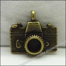 50 шт винтажные Подвески кулон в виде камеры античная бронза для браслетов и колье DIY изготовление металлических украшений