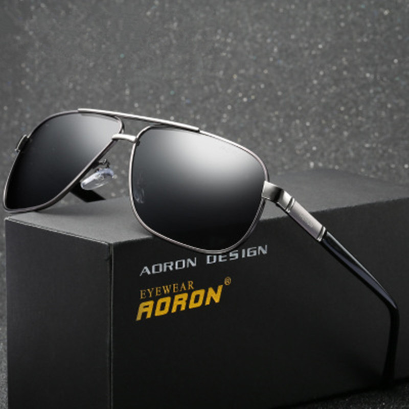 Aluminum Men Brand Sunglasses Polarized Mens Sun Glasses Integrated Lens Eyewear SILVER GRAY